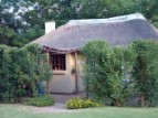 The thatch cottage is the only unit on the property guaranteeing you absolute privacy when staying at The Farm House Hartebeestfontein self catering accommodation